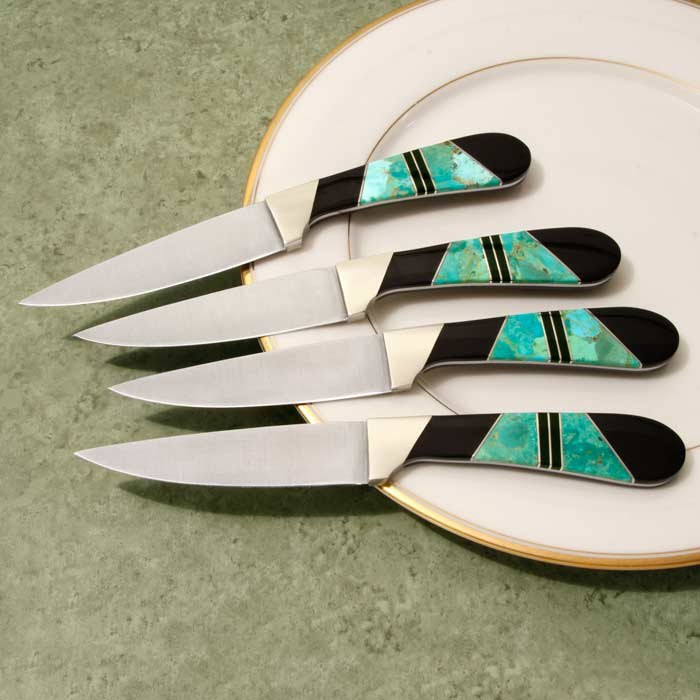 Green Turquoise Steak Knife Set