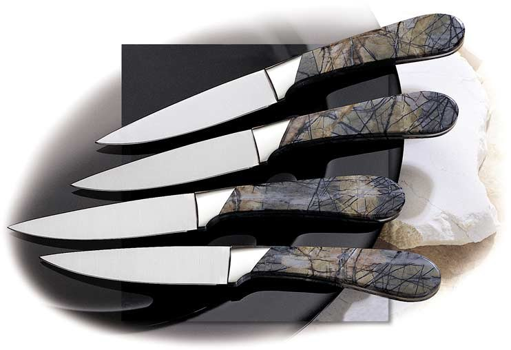 Steak Knives - with Picasso Marble Handles