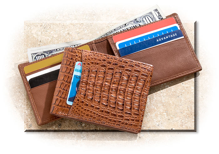 Caiman Leather Bi-Fold Wallet