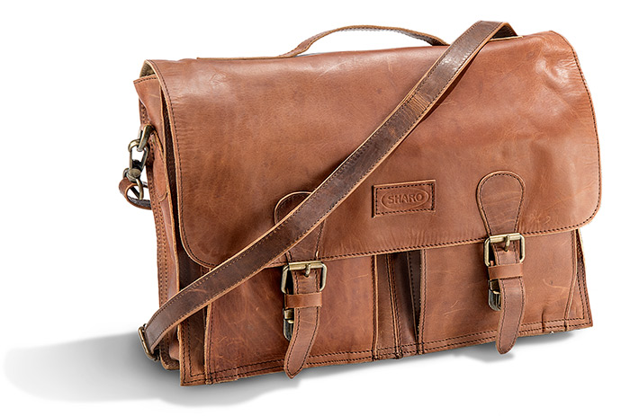 Leather & Leather/Canvas Briefcase