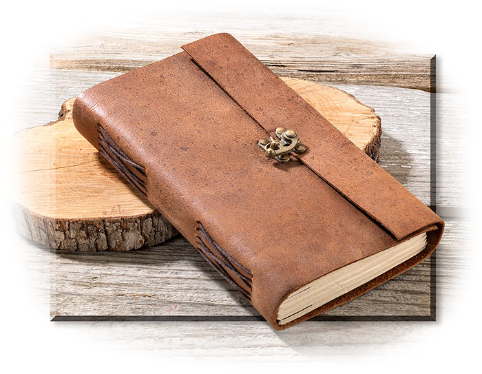 Latched Leather Cover Journal
