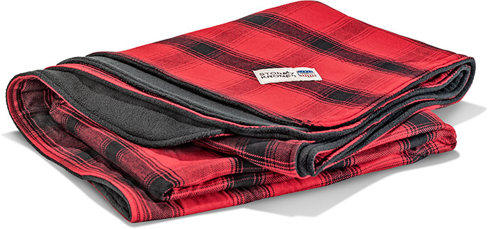CABIN BLANKET - RED AND BLACK PLAID
