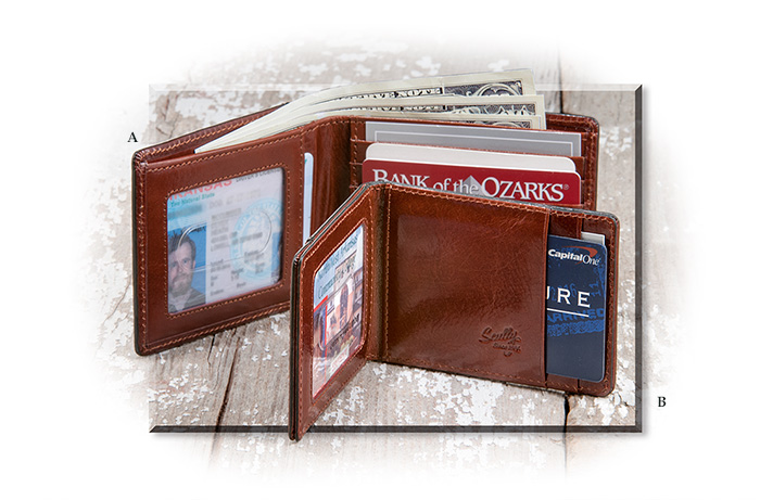 Italian Leather Wallet & Magnetic Money Clip
