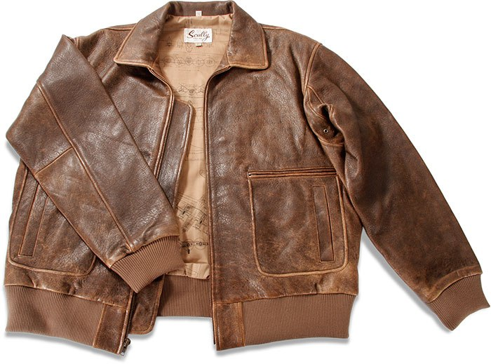 Skully Men's B-2 Bomber Leather Jacket 81st Aero Squadron ...