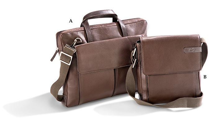 Genuine Leather Workbag and Shoulder Tote