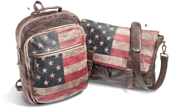 Patriotic Leather Backpack