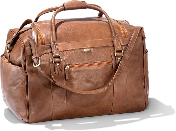 Calfskin Leather Travel Bag