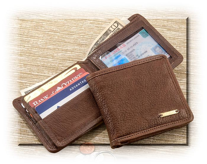 Chocolate Brown Calfskin Wallet