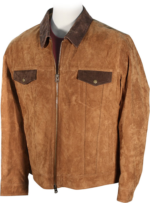 Two-Tone Boar Suede Jacket medium