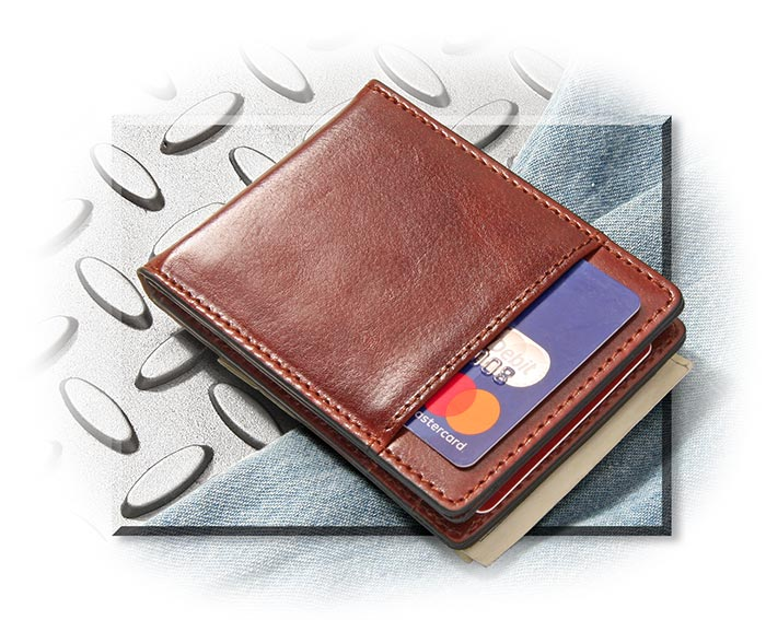 Italian Leather Cash Clip