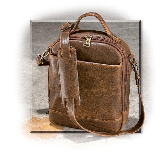 Scully's Aerosquadron leather bag Handcrafted supple lambskin  distressed finish,