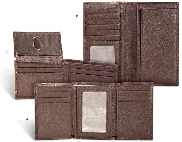 RFID Protection Leather Tri-Fold Wallet