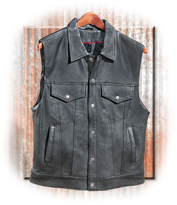Concealed Carry Lamb's Leather Vest
