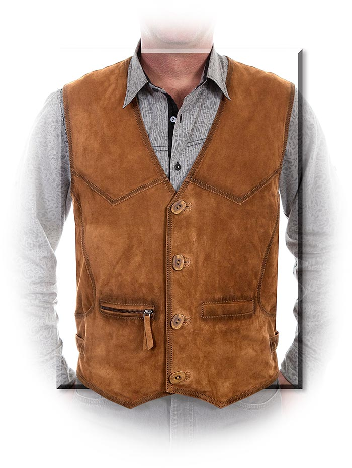 Buffed Lamb's Leather Vest small