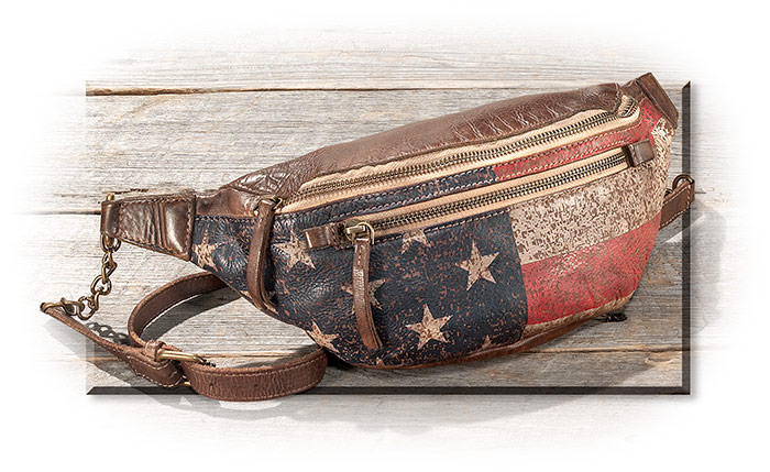 Patriotic Leather Waist Pack