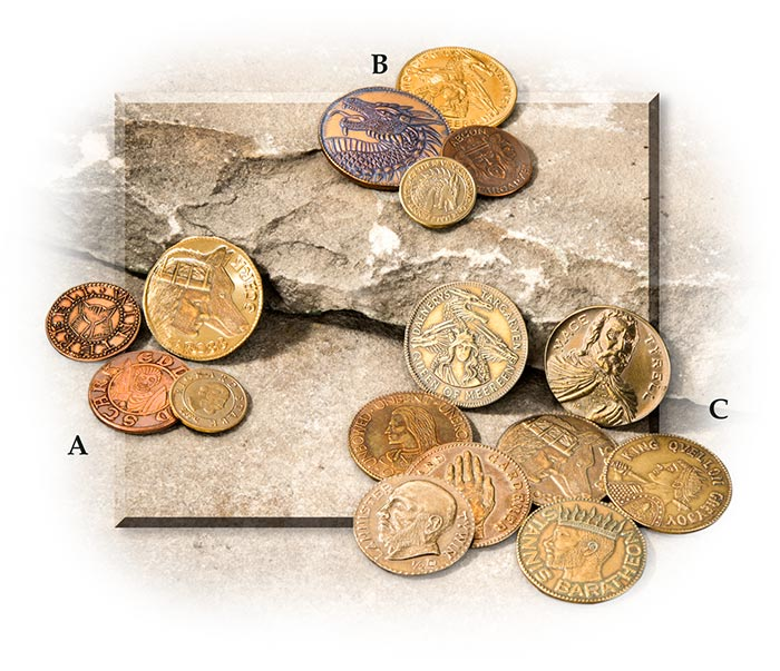 Friendly Game Of Throne Coins Dragon Coins & Paper Money