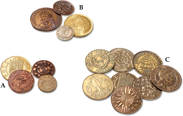 Coins: Medieval Friendly Game Of Throne Coins Dragon Coins & Paper Money