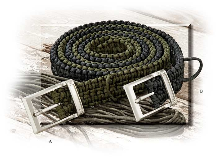 Paracord Survival Belt Tan - large