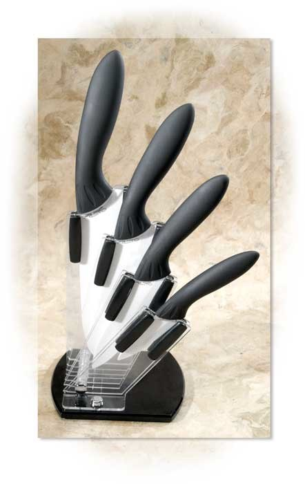 Ceramic Knife Set with Display