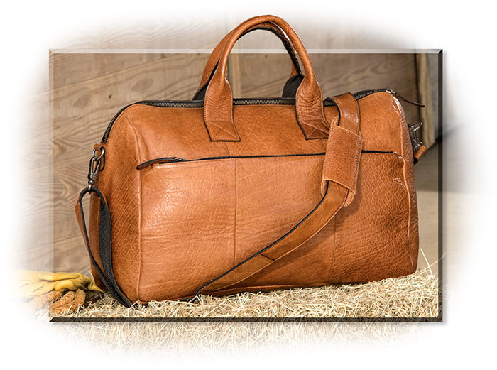 Cowhide Leather Weekender