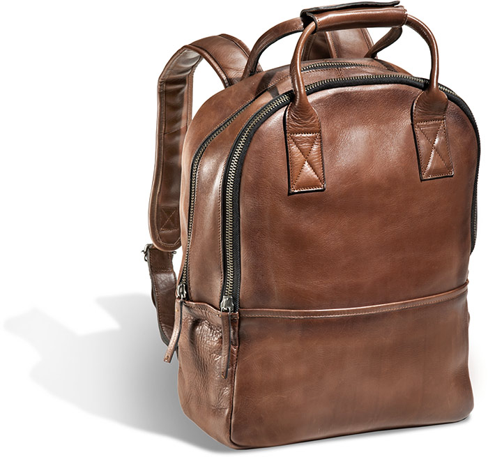 Mahogany Leather Backpack