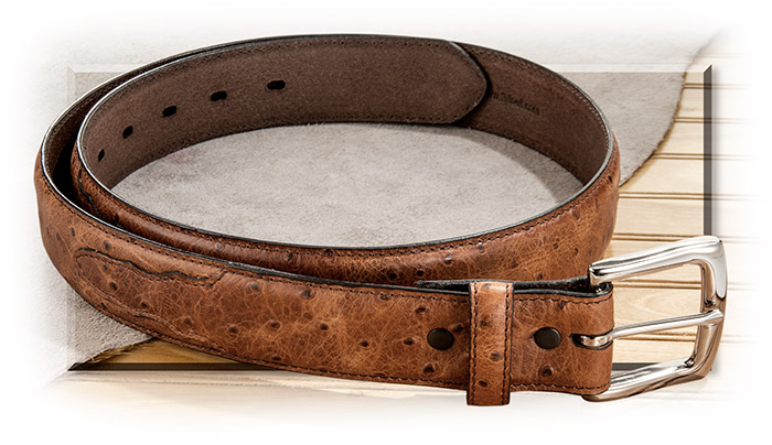 Faux Ostrich Leather Belt