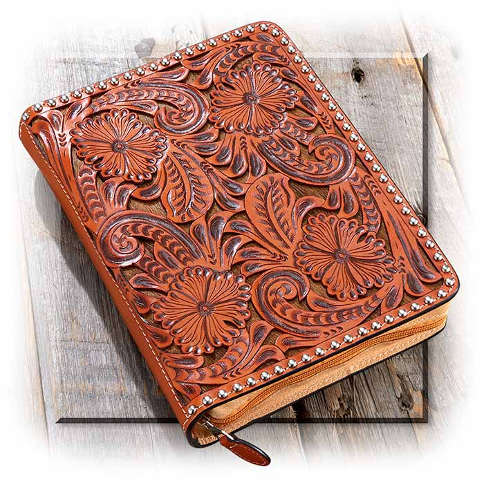 Tooled Leather Bible Cover