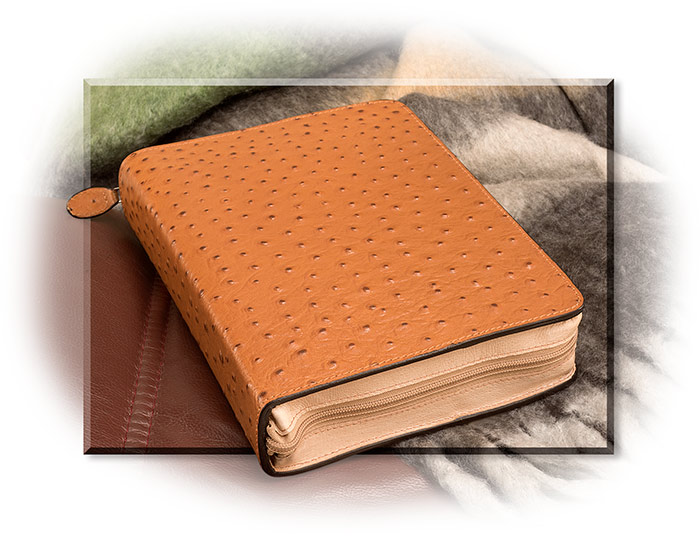 Faux Ostrich Leather Bible Cover