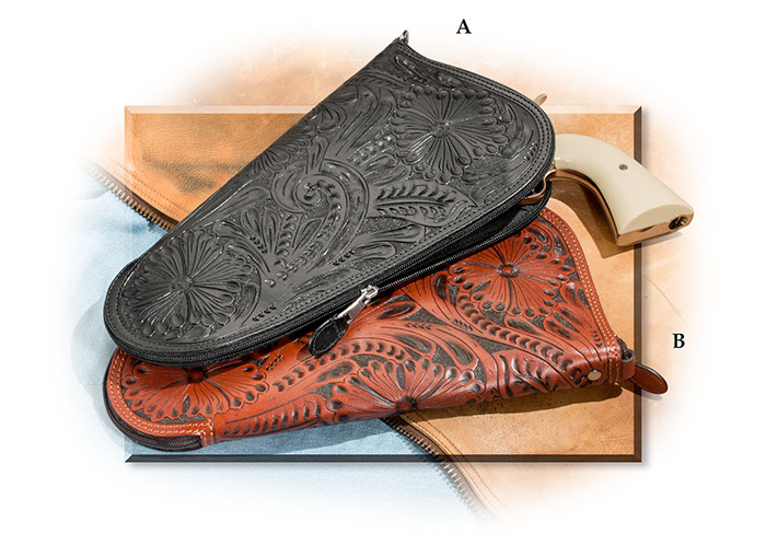 Hand-Tooled Leather Pistol Case