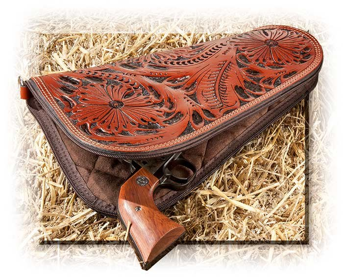 Hand - Tooled Leather Pistol Case