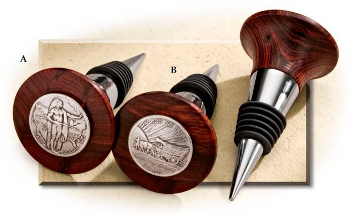 Handcrafted Cocobolo Wine Bottle Stoppers