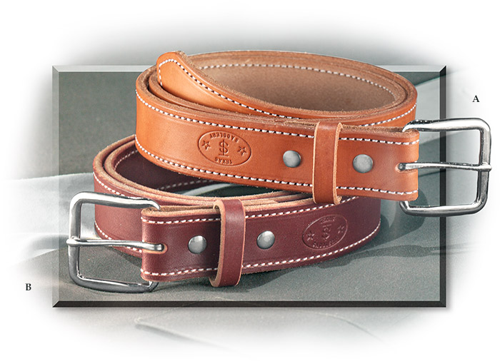 CASUAL LEATHER BELT- GOLDEN HARNESS LEATHER - SIZE 34 REMOVEABLE BUCKLE WITH CHICAGO SCREWS
