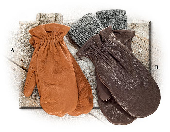American Bison Chopper Mitts-Chocolate-Small/Medium