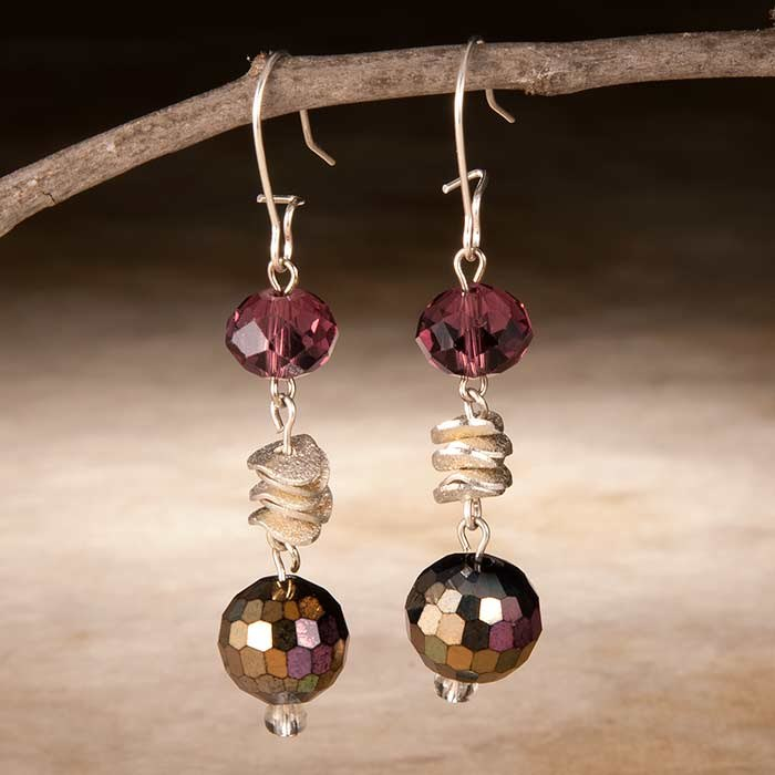 Mirror Ball Crystal Earrings