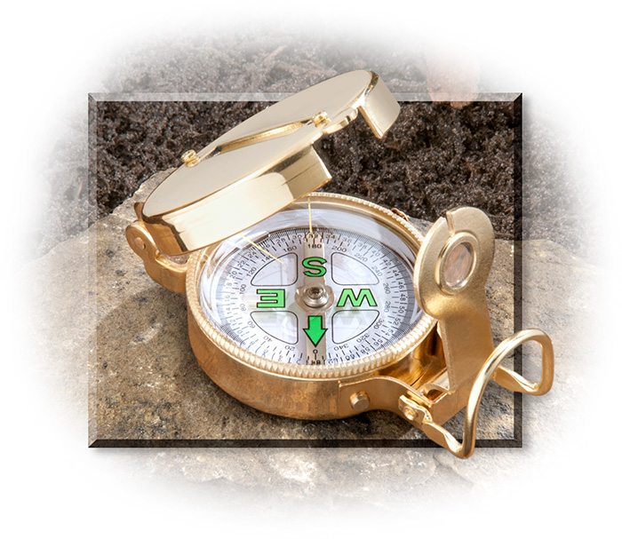 UST Brands, Ultimate Survival Technologies traditional brass lensatic compass