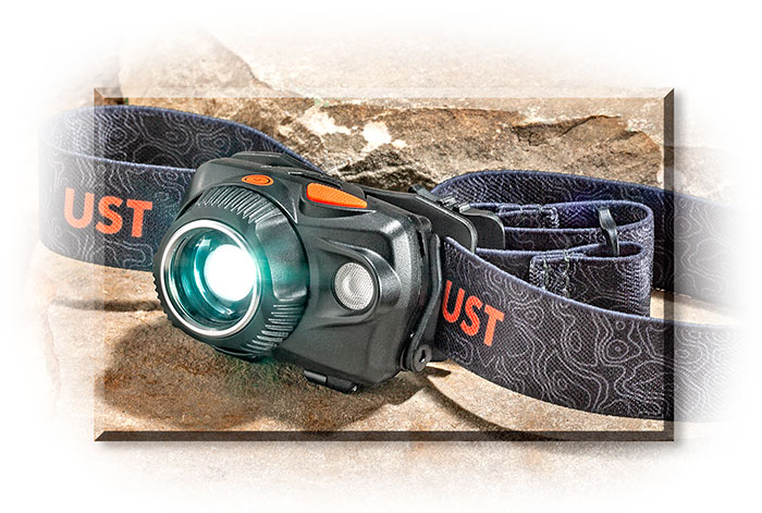 Dual Power LED Headlamp - Uses rechargeable Lithium-Ion battery or 3 AAA - up to 580 Lumens