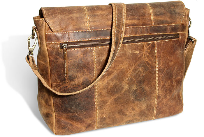 Rugged Water Buffalo Cross-Body Messenger Bag