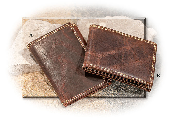 Water Buffalo Leather Bi-fold or Tri-fold Wallet