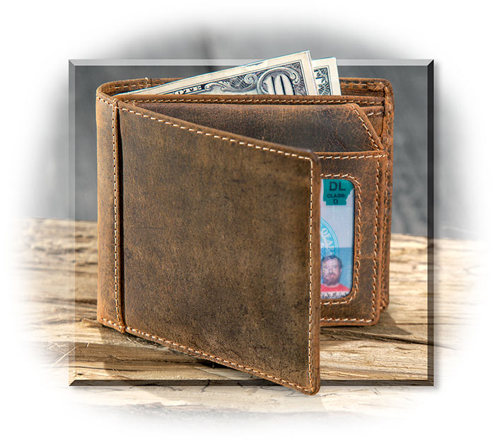 Rugged Water Buffalo Bifold Wallet