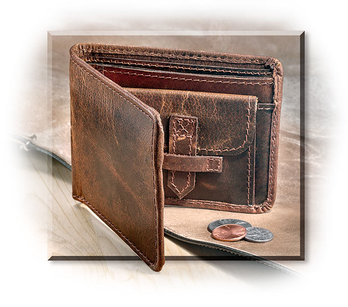 Rugged Water Buffalo Leather Wallet