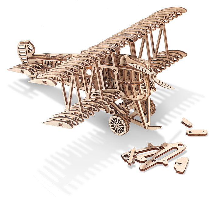 3D Mechanical Puzzle-Biplane