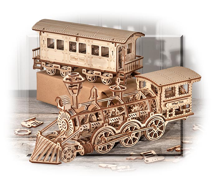 3D Mechanical Puzzle - Locomotive with Passenger Car