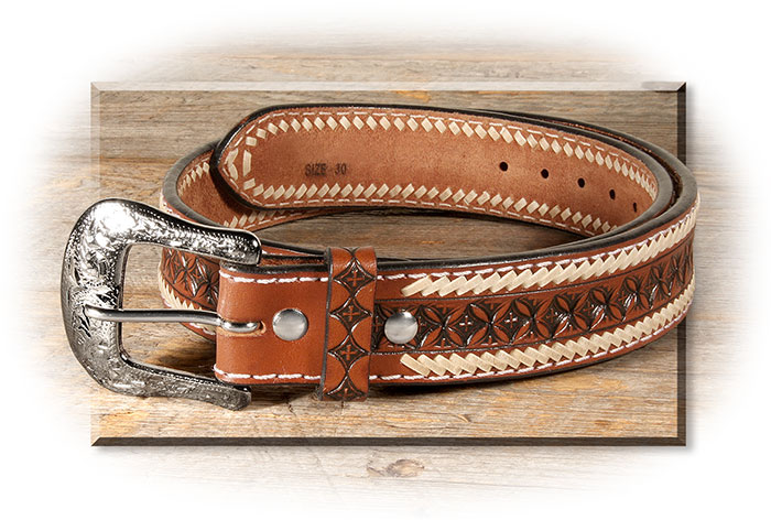Handtooled Leather Belt
