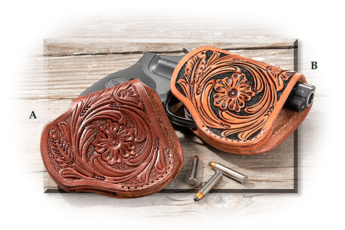 Hand Tooled Leather Holsters brown