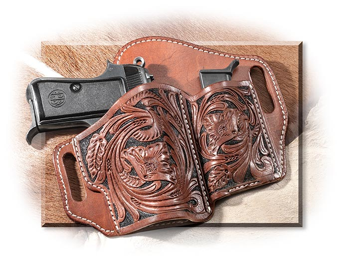 Tooled & Painted Leather Holster