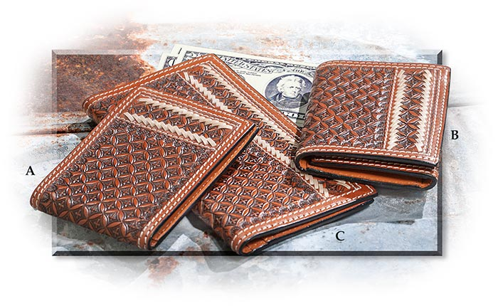 Handtooled Leather Wallets