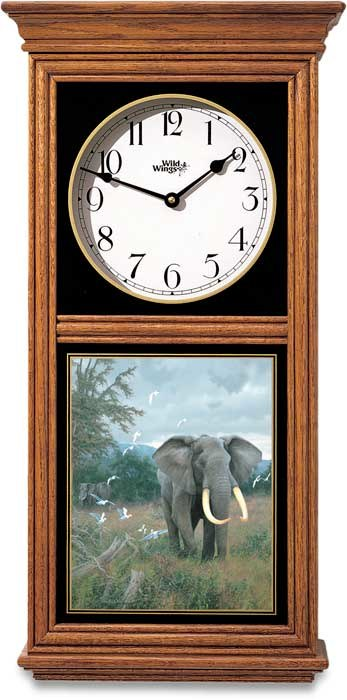 HIGHLAND BULL WALL CLOCK - REGULATOR - 14 X 12 X 4 WEIGHS 10 LBS - USES 1 AA BATTERY NOT INCLUDED