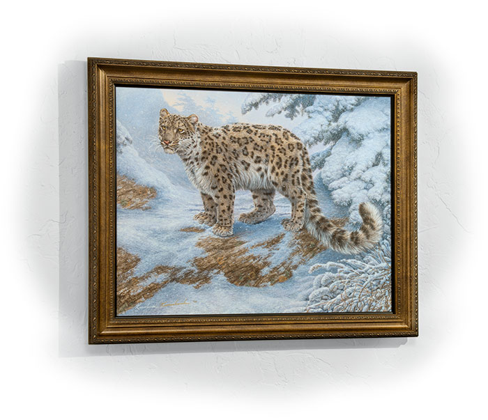 Leopard wall art painting by Lee Kromschroeder